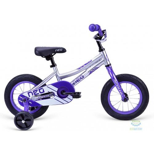 """Велосипед 12"""" Apollo NEO girls фіолетово/білий"""